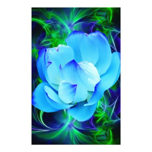 Blue Lotus Flower And Its Meaning Stationery Zazzle