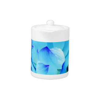 Blue lotus flower and its meaning teapot