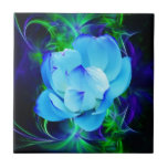 Blue lotus flower and its meaning small square tile