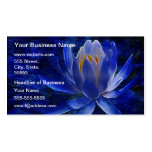Blue Lotus Flower Double-Sided Standard Business Cards (Pack Of 100)