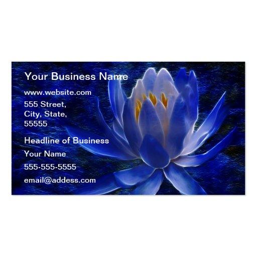Blue Lotus Flower Business Card Templates