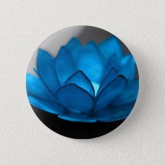 Blue Lotus Flower Button