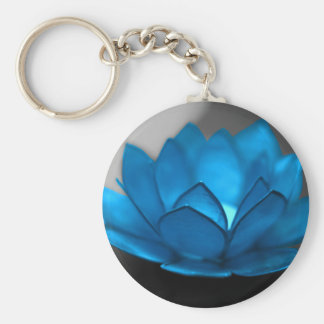 Blue Lotus Flower Keychain