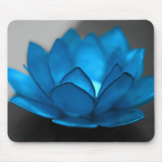 Blue Lotus Flower Mouse Pad