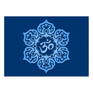 Blue Lotus Flower Om Large Business Cards (Pack Of 100)