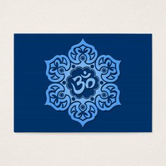 Blue Lotus Flower Om Business Card