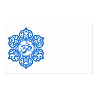 Blue Lotus Flower Om Double-Sided Standard Business Cards (Pack Of 100)
