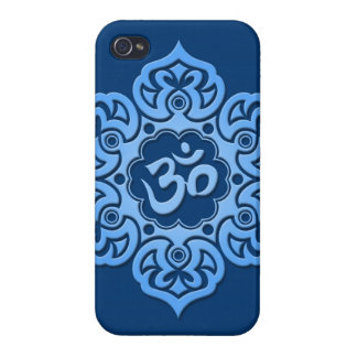 Blue Lotus Flower Om iPhone 4/4S Covers