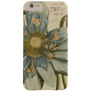 Blue Lotus Flower on Tan Background with Writing Barely There iPhone 6 Plus Case