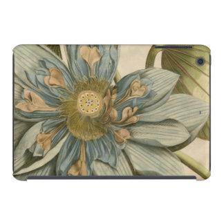 Blue Lotus Flower on Tan Background with Writing iPad Mini Retina Cases