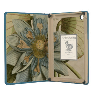 Blue Lotus Flower on Tan Background with Writing iPad Mini Cases