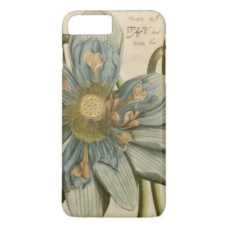 Blue Lotus Flower on Tan Background with Writing iPhone 7 Plus Case