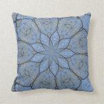 Blue lotus flower pillow