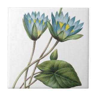 BLUE LOTUS FLOWERS TRIVET TILE