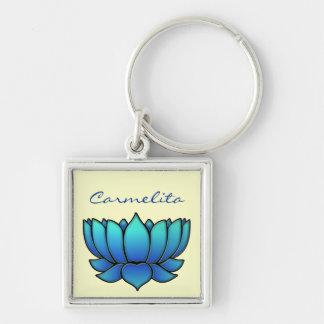 blue lotus keychain
