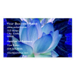 Blue lotus lily Double-Sided standard business cards (Pack of 100)