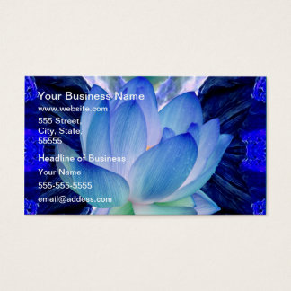 Blue lotus lily business card