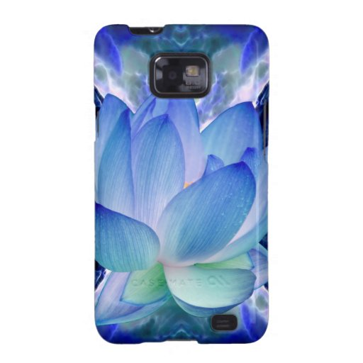 Blue lotus lily galaxy s2 cases