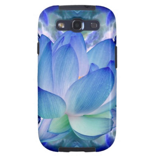 Blue lotus lily samsung galaxy s3 cases