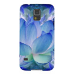 Blue lotus lily case for galaxy s5