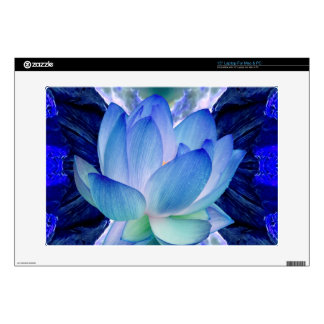 "Blue lotus lily decals for 15"" laptops"