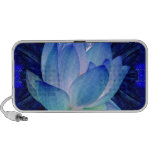Blue lotus lily iPhone speakers