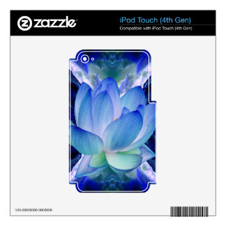 Blue lotus lily iPod touch 4G skins
