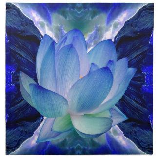 Blue lotus lily napkin