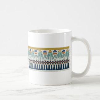 Blue lotus motif of Pairy Basic White Mug