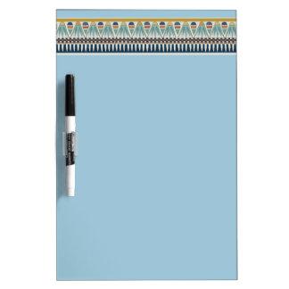 Blue lotus motif of Pairy Dry Erase Board
