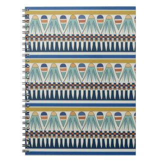 Blue lotus motif of Pairy Spiral Note Books