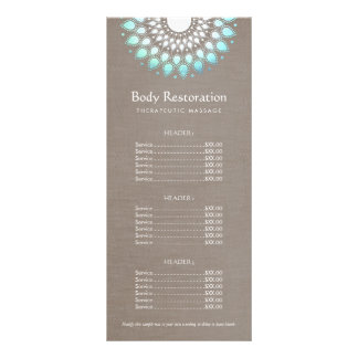 Blue Lotus Natural Health and Wellness Price List Rack Card