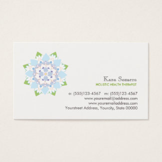Blue Lotus Natural Health Healer Business Card