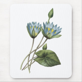 blue lotus(Nymphaea caerulea) by Redouté Mouse Pad