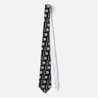 blue lotus of the Nile Tie