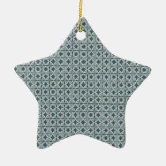 Blue lotus christmas ornament