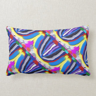 Blue Lotus Patterns : Artistic Colorful OneOFaKIND Pillow