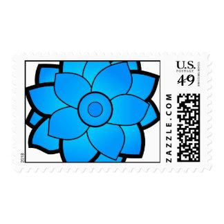 Blue Lotus Series Stamp