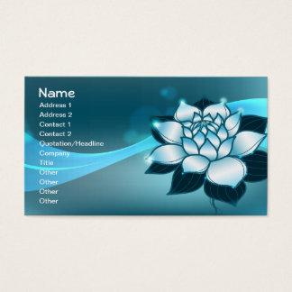 Blue Lotus Spiritual Fine Floral Art Business Card