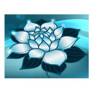 Blue Lotus Spiritual Fine Floral Art Postcard