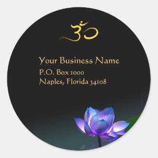 Blue lotus stickers