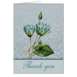 Blue Lotus Thank You Notes Greeting Card