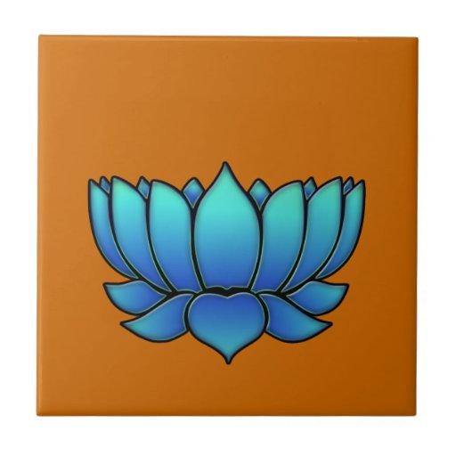 blue lotus tile