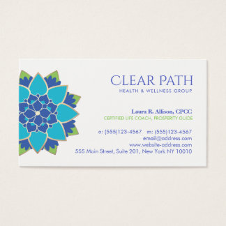 Blue Lotus Wellness Counselor and Natural Health Business Card