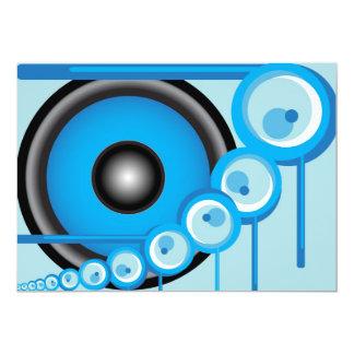 Blue Loudspeaker Card
