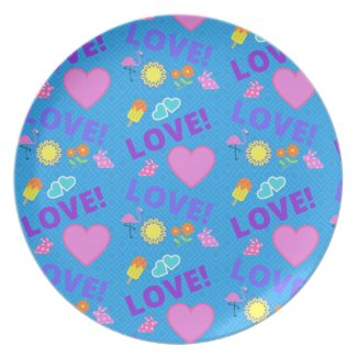 Blue Love - 80s Rock Plate