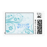 "Blue ""Love Bird"" Save the Date Postage"