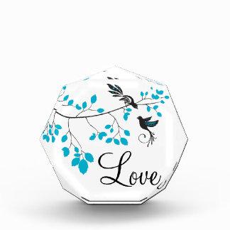 Blue Love Birds Acrylic Award