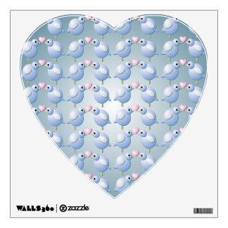 Blue Love Birds Heart Wall Decal