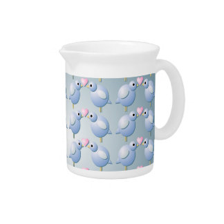 Blue Love Birds Pitcher
